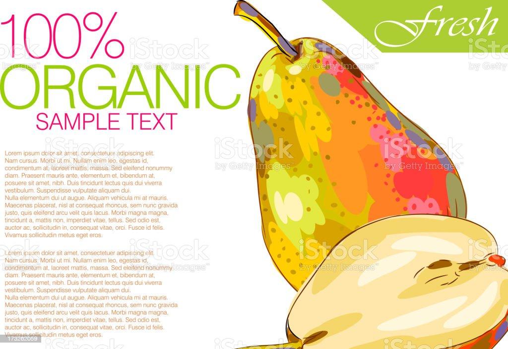 Fresh Pears royalty-free stock vector art