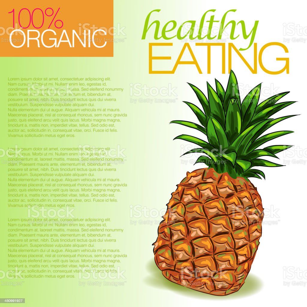 Fresh Pineapple royalty-free stock vector art
