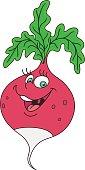 Fresh radish cartoon
