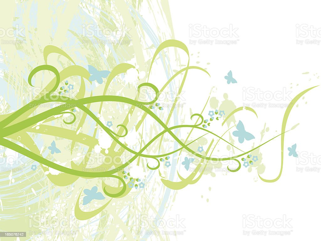 Fresh spring background royalty-free stock vector art