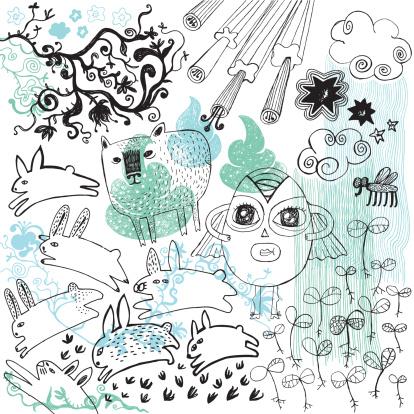 Fresh spring doodle