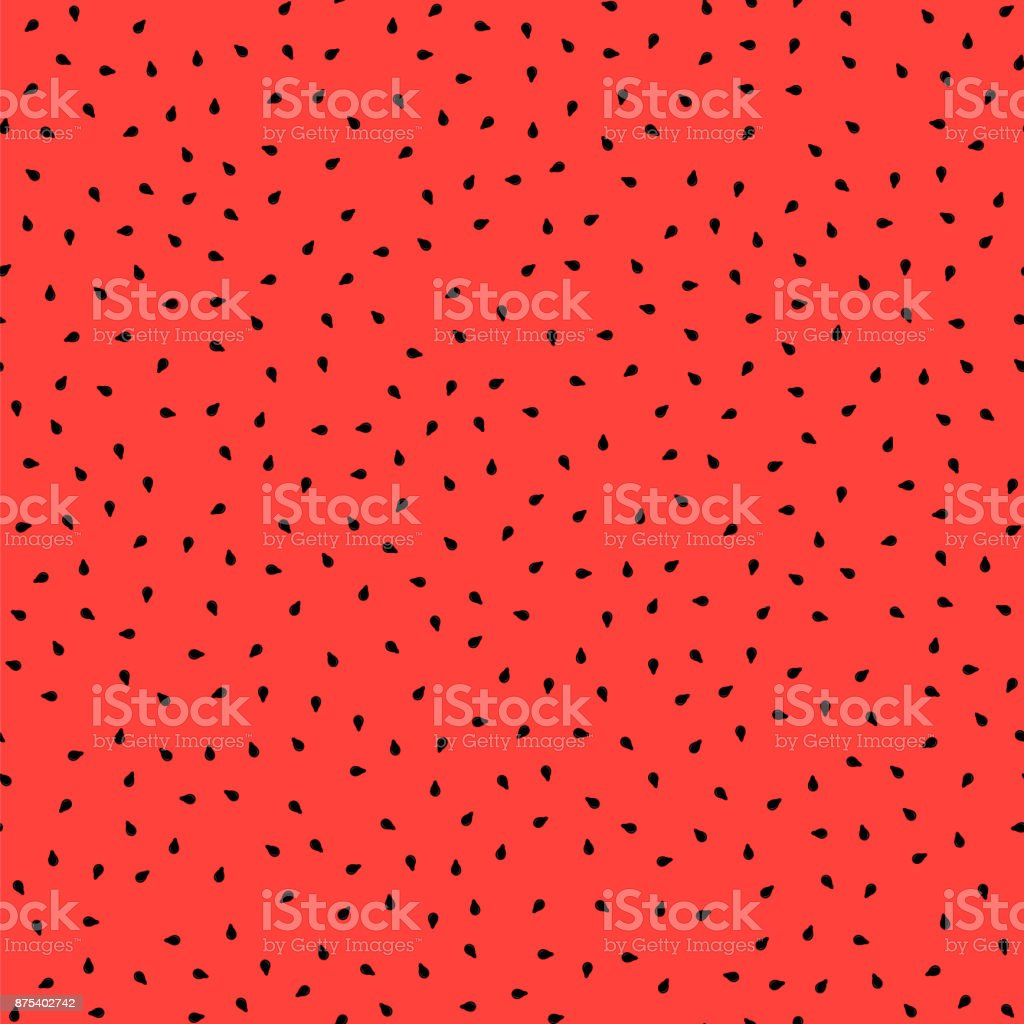 Fresh Sweet Natural Ripe Watermelon Seamless Pattern vector art illustration