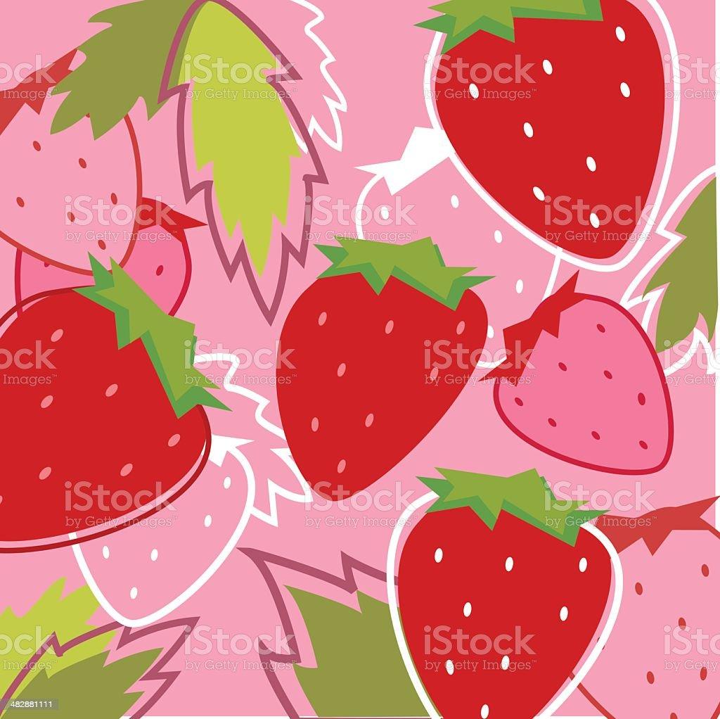 Fresh Taste of Strawberry royalty-free stock vector art