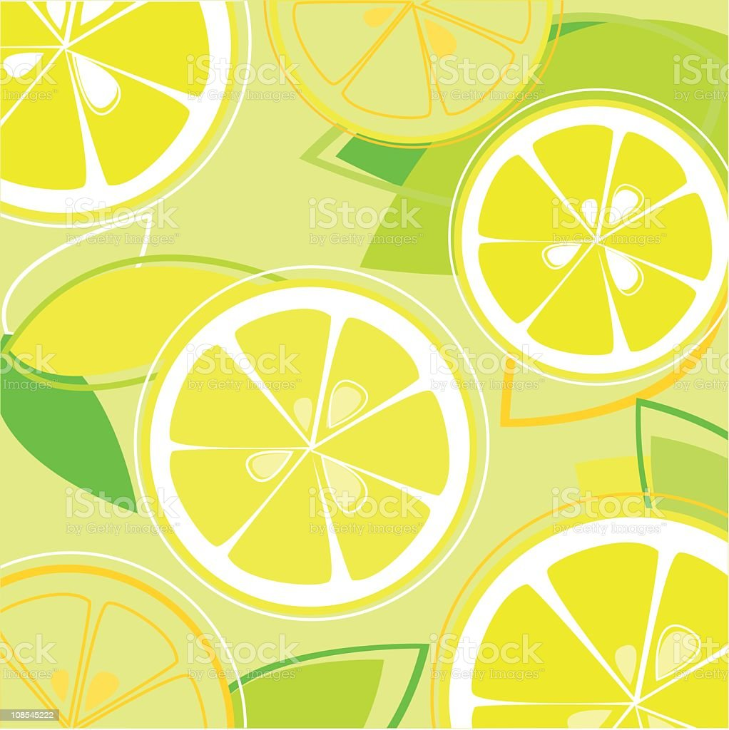 Fresh Taste of Summer Lemon royalty-free stock vector art