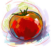 Fresh Tomato, all elemnts are in separate layers and grouped, please visit my portfolio for more options.