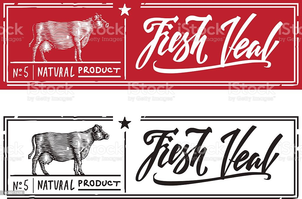 fresh veal vector art illustration