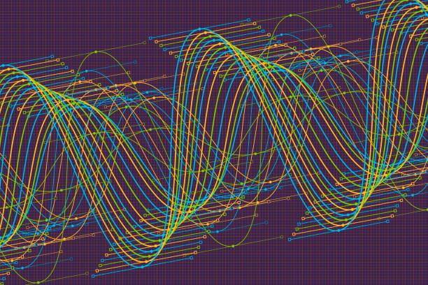 Fresh Vector Sine Wave Graph Pattern Horizontal vector art illustration