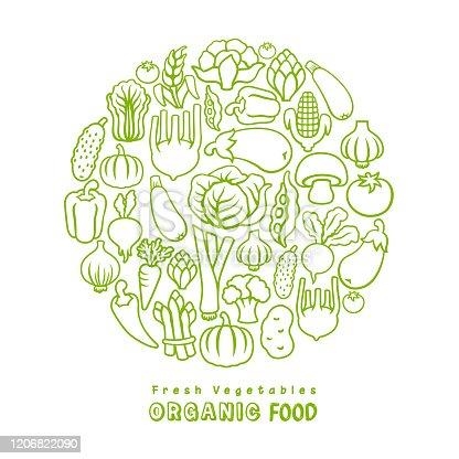 istock Fresh vegetables. Organic Food. 1206822090
