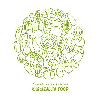 Organic food. Vector design template.