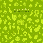 Fresh vegetables. Seamless pattern.