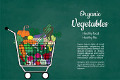 Fresh vegetables Vector hand drawn sketch. Shopping organic foods. Eco foods Vector for your design product.