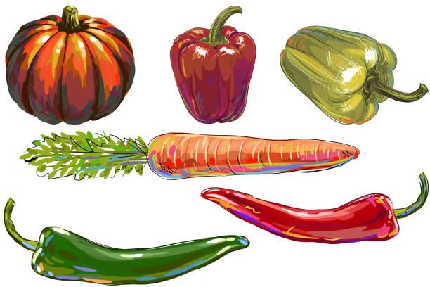ilustrações de stock, clip art, desenhos animados e ícones de frescos produtos hortícolas - red bell pepper isolated