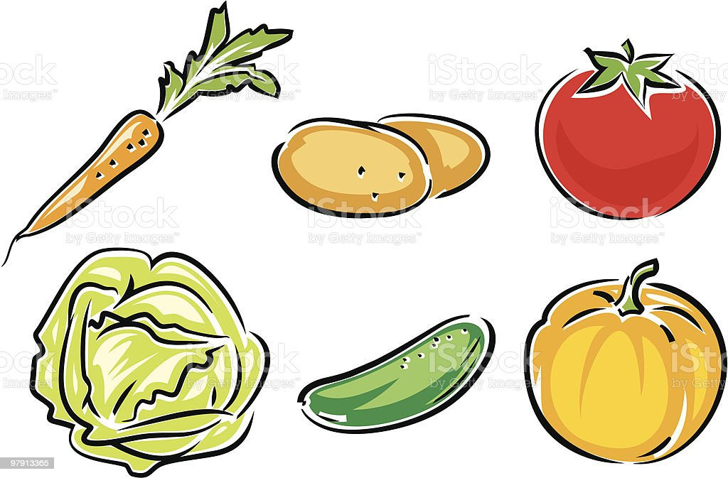 Fresh Vegetables royalty-free fresh vegetables stock vector art & more images of agriculture