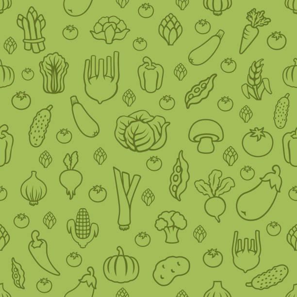 Fresh vegetables. Wallpaper background Fresh vegetables. Seamless Pattern cooking borders stock illustrations