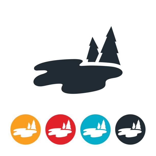 ilustraciones, imágenes clip art, dibujos animados e iconos de stock de lago de agua dulce - lago