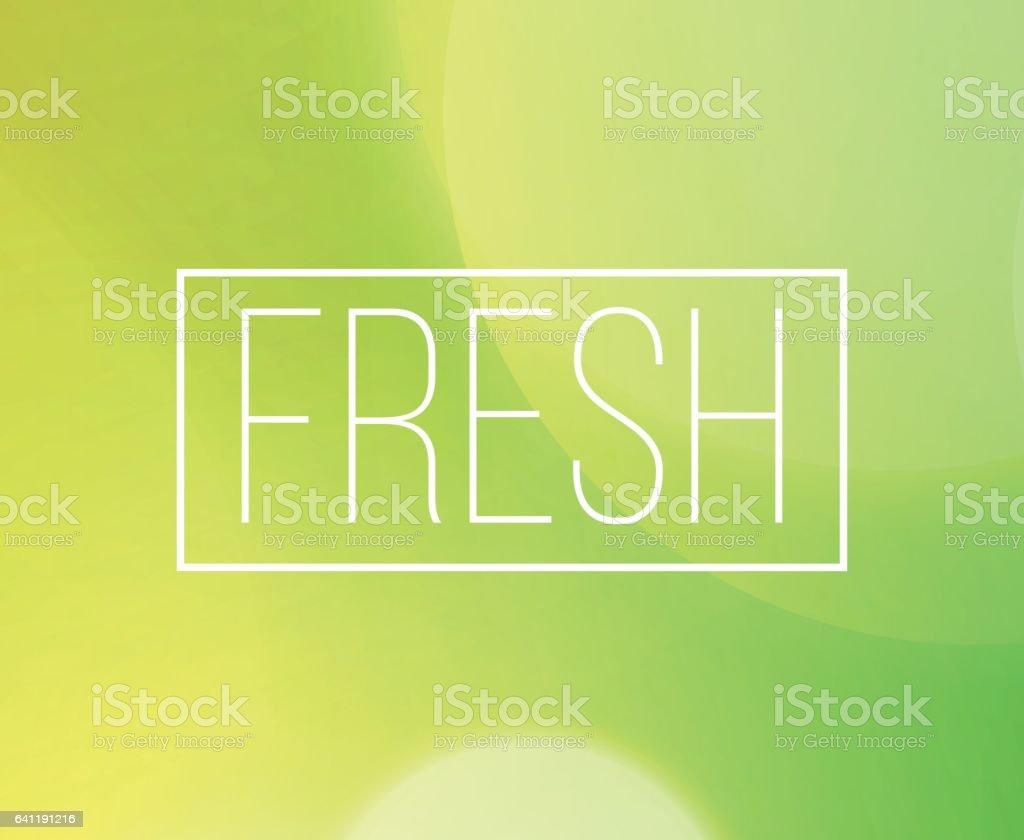 ピンぼけ光の背景を持つ新鮮なワード フレーム のイラスト素材