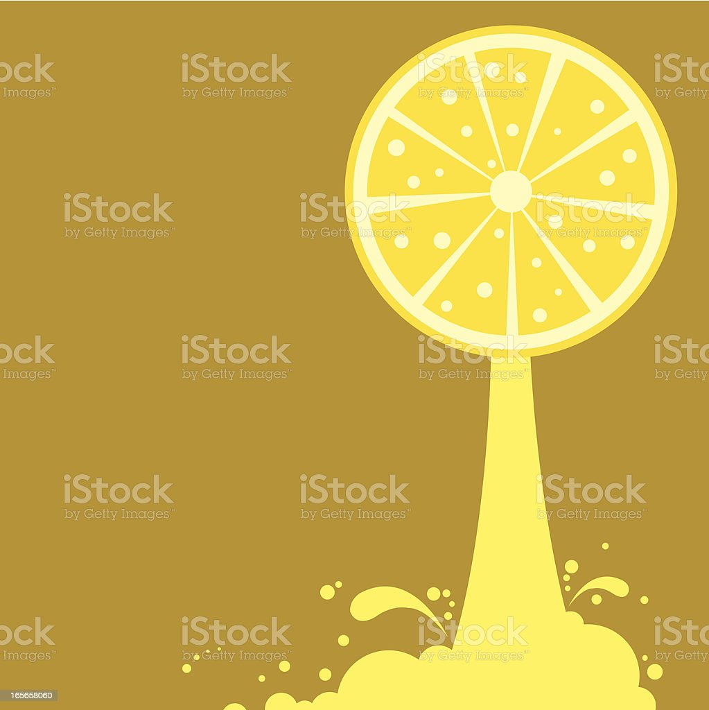 Freshly Squeezed Lemon Juice royalty-free stock vector art