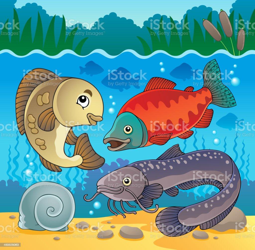 Freshwater fish theme image 5 royalty-free freshwater fish theme image 5 stock vector art & more images of animal