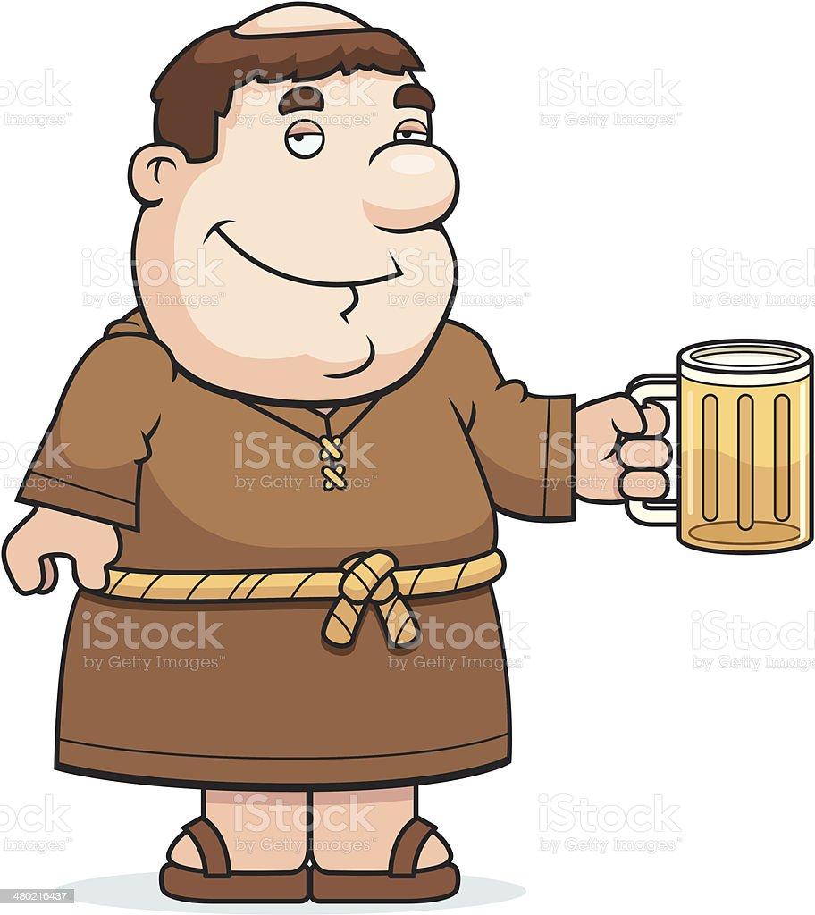 Fraile cerveza - ilustración de arte vectorial