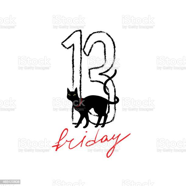 Friday 13th grunge illustration with numerals and black cat vector id465420808?b=1&k=6&m=465420808&s=612x612&h=8kbqpysh7kiyklay7nqwpl8aal7cfma76stkjv2t5oa=