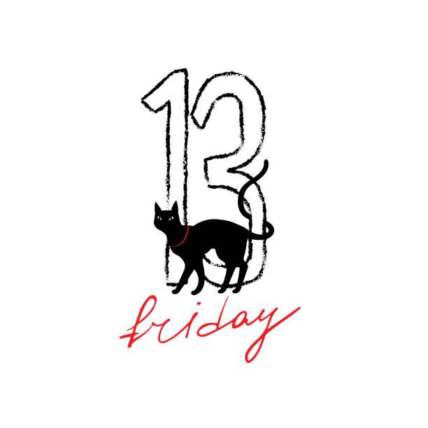 금요일이요 13번째 그런지 일러스트를 숫자 (블랙 자본가. - black friday stock illustrations