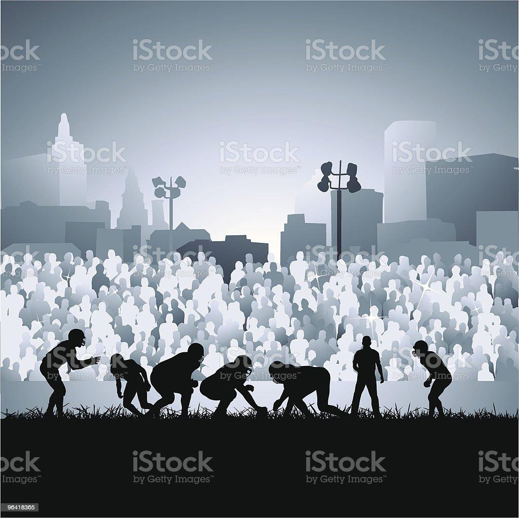 Friday night lights vector art illustration