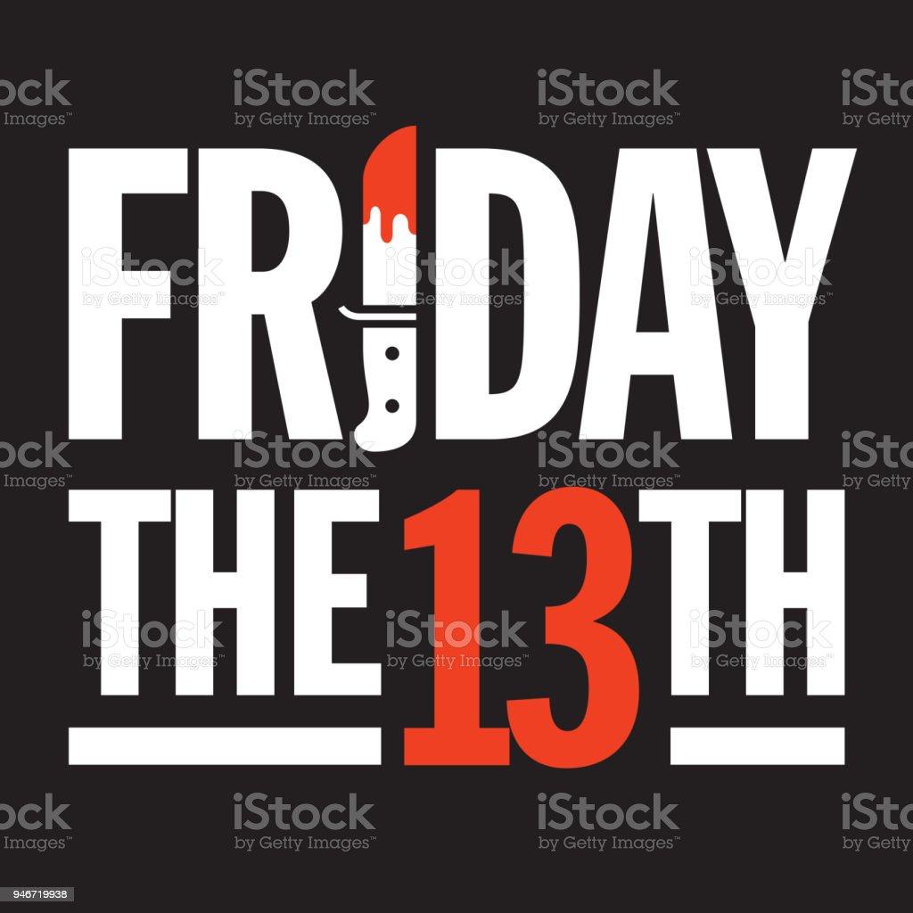 Friday the 13th Vector Design. vector art illustration