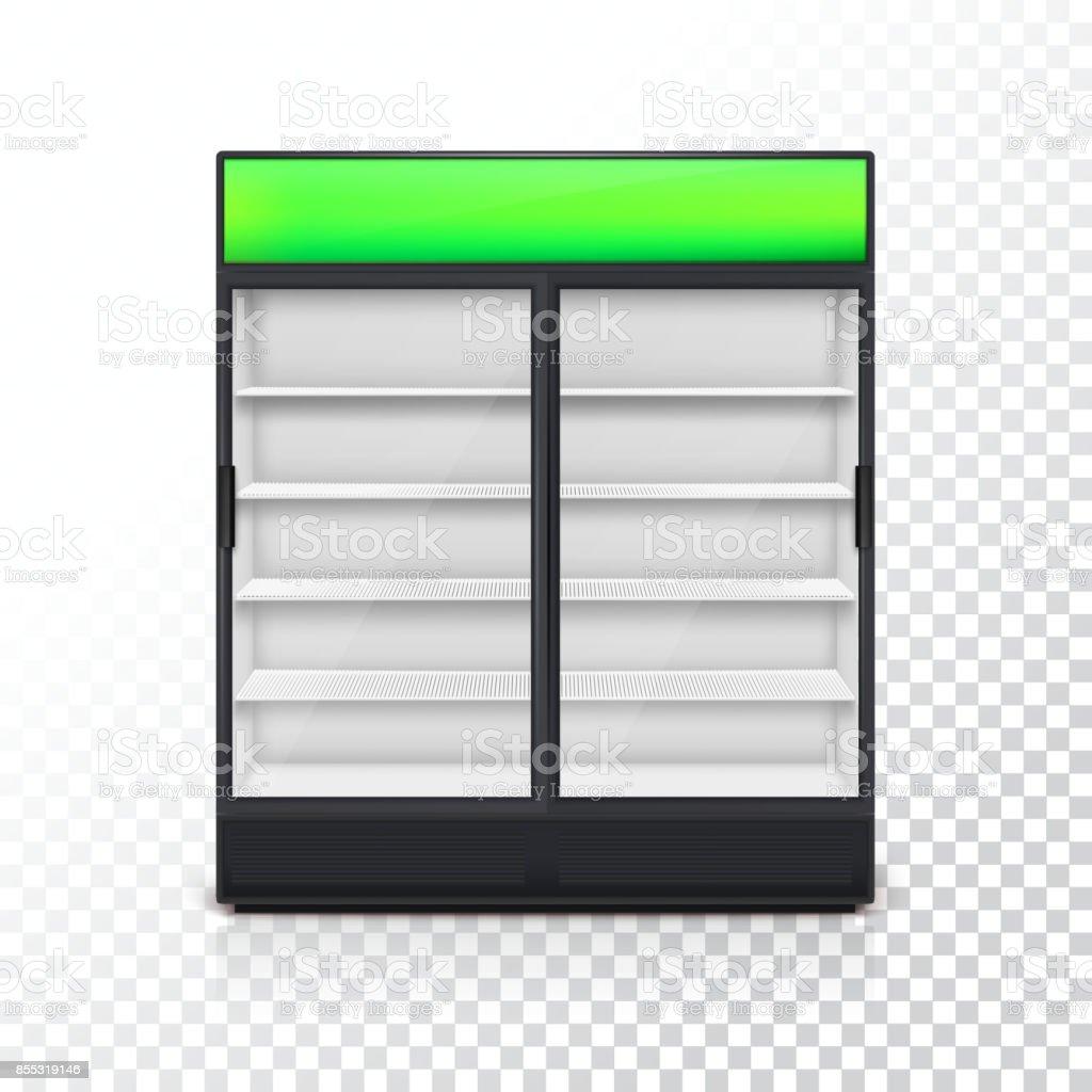 Getränke Kühlschrank Mit Glastür Stock Vektor Art und mehr Bilder ...