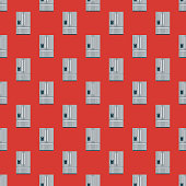 Fridge Home Appliance Seamless Pattern