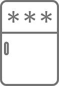 fridge icon. refrigerator simple symbol. Vector fridge