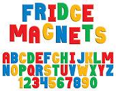 Fridge Magnet Alphabet