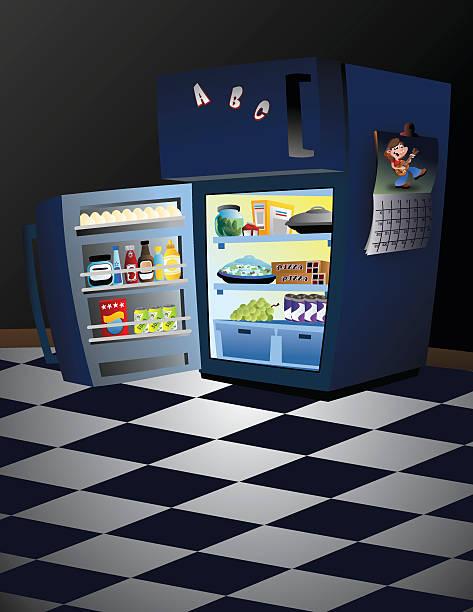 ilustraciones, imágenes clip art, dibujos animados e iconos de stock de refrigerador pequeño - leftovers