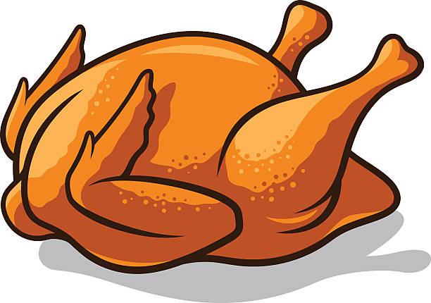 Fried Chicken Vector Art Illustration