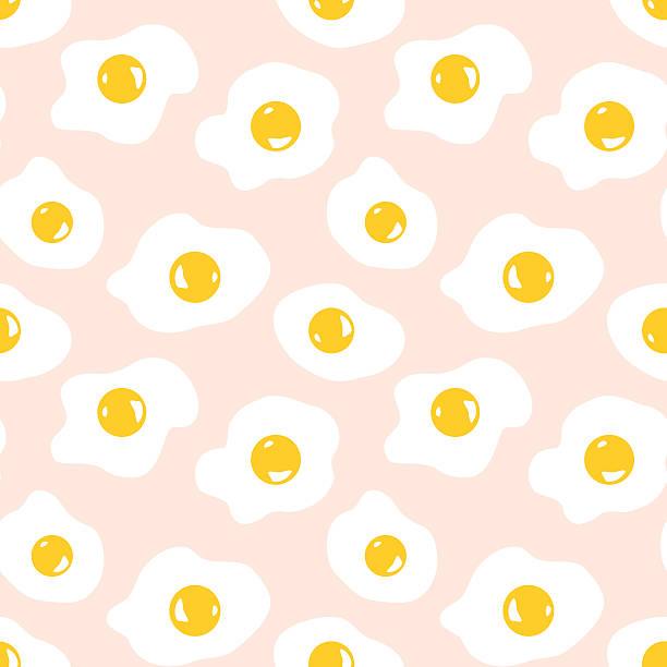 ilustraciones, imágenes clip art, dibujos animados e iconos de stock de huevo frito de fondo - desayuno