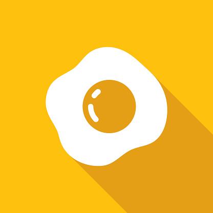 Vector illustration of fried egg.