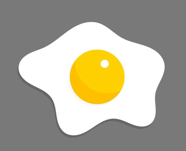 fried egg illustration. - spiegelei stock-grafiken, -clipart, -cartoons und -symbole