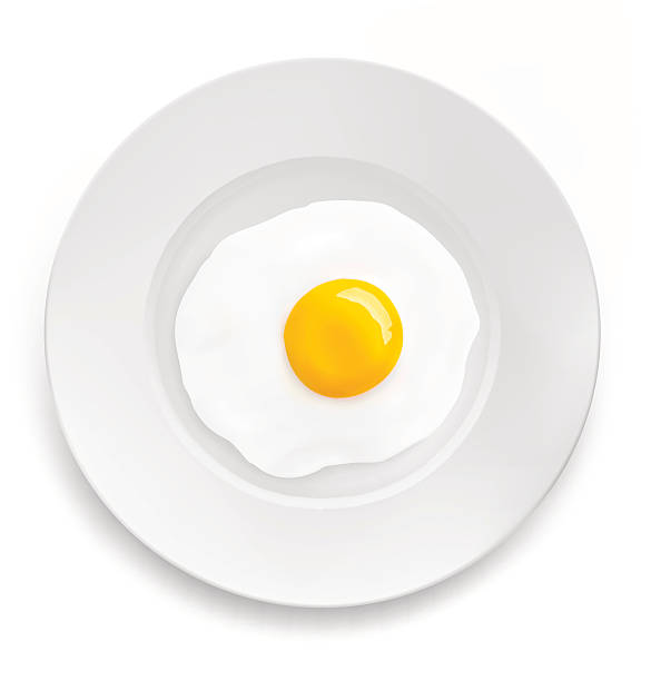 Two heart-shaped fried eggs on a plate.Valentine's Day ...  |Fried Eggs On A Plate