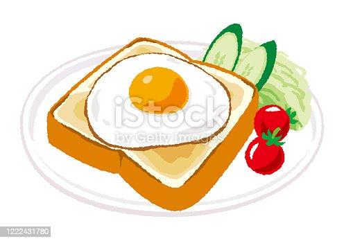 istock fried egg toast 1222431780