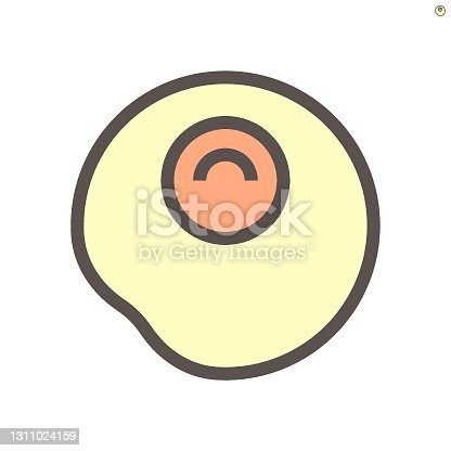 istock Fried egg vector icon. 48x48 pixel perfect and editable stroke. 1311024159