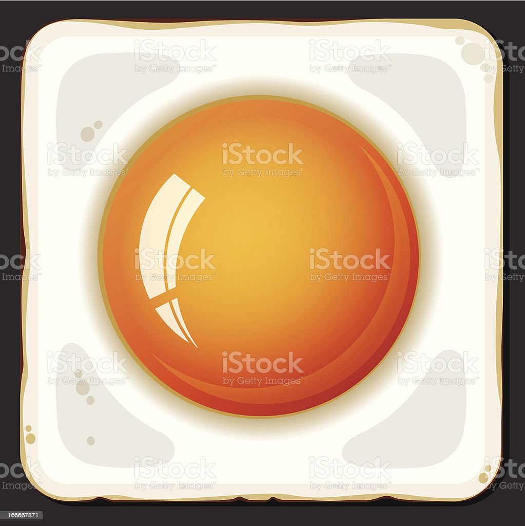 Fried eggs icon royalty-free stock vector art