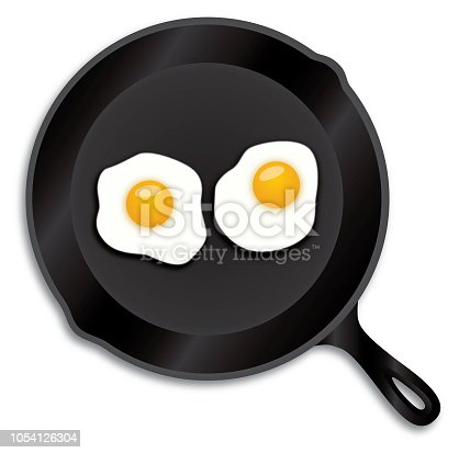 istock Fried Eggs Iron Skillet 1054126304