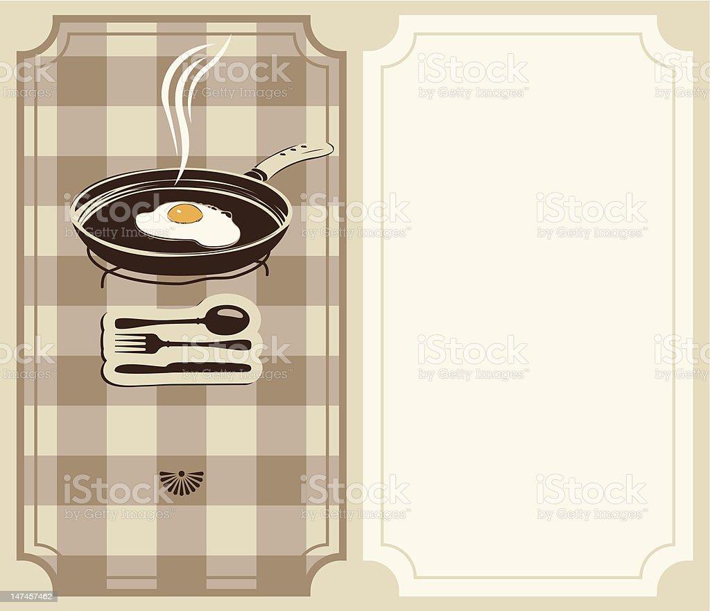 fried eggs royalty-free stock vector art