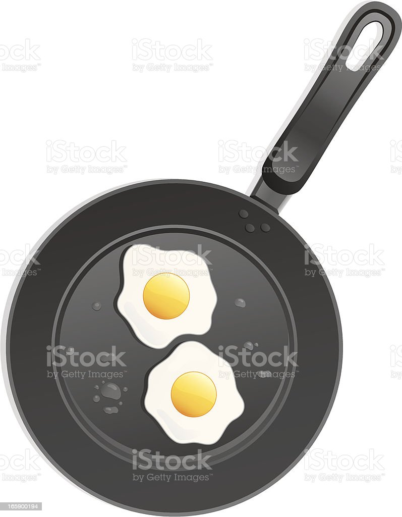 Fried Eggs royalty-free fried eggs stock vector art & more images of breakfast