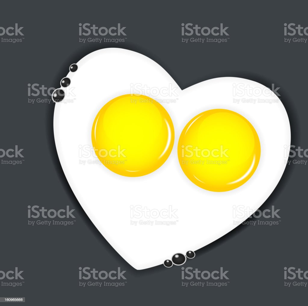royalty free heart shaped fried egg clip art vector images rh istockphoto com