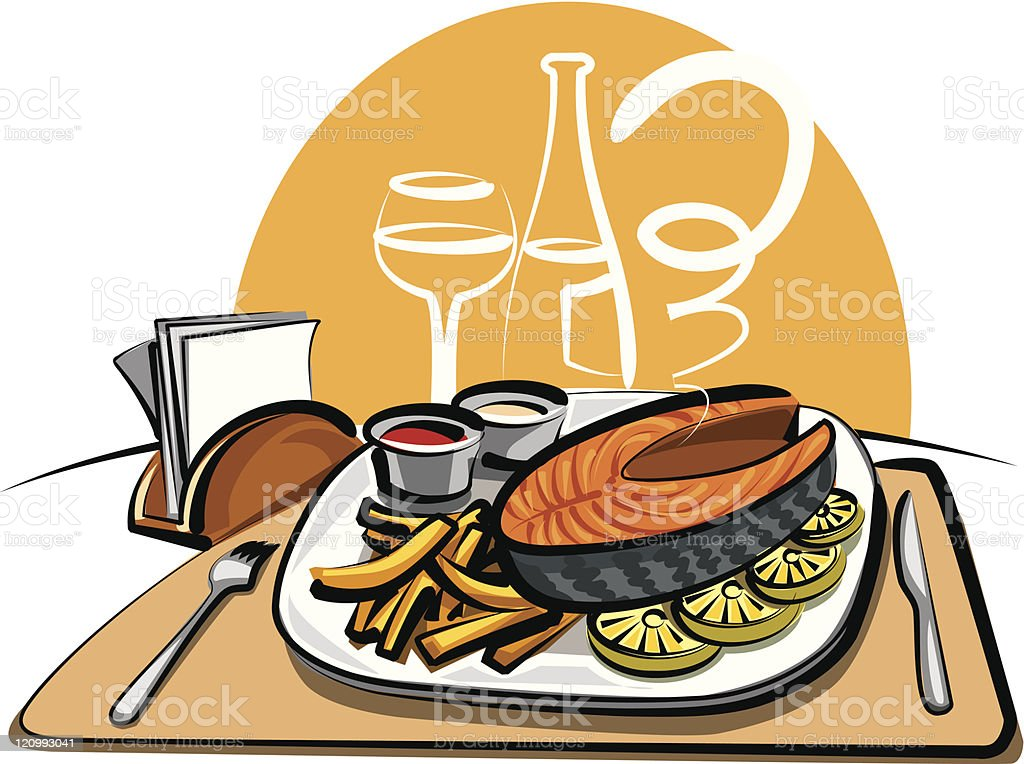 fried fish and chips royalty-free fried fish and chips stock vector art & more images of baking