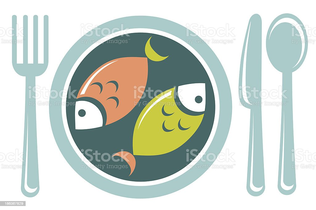 fried fish royalty-free stock vector art