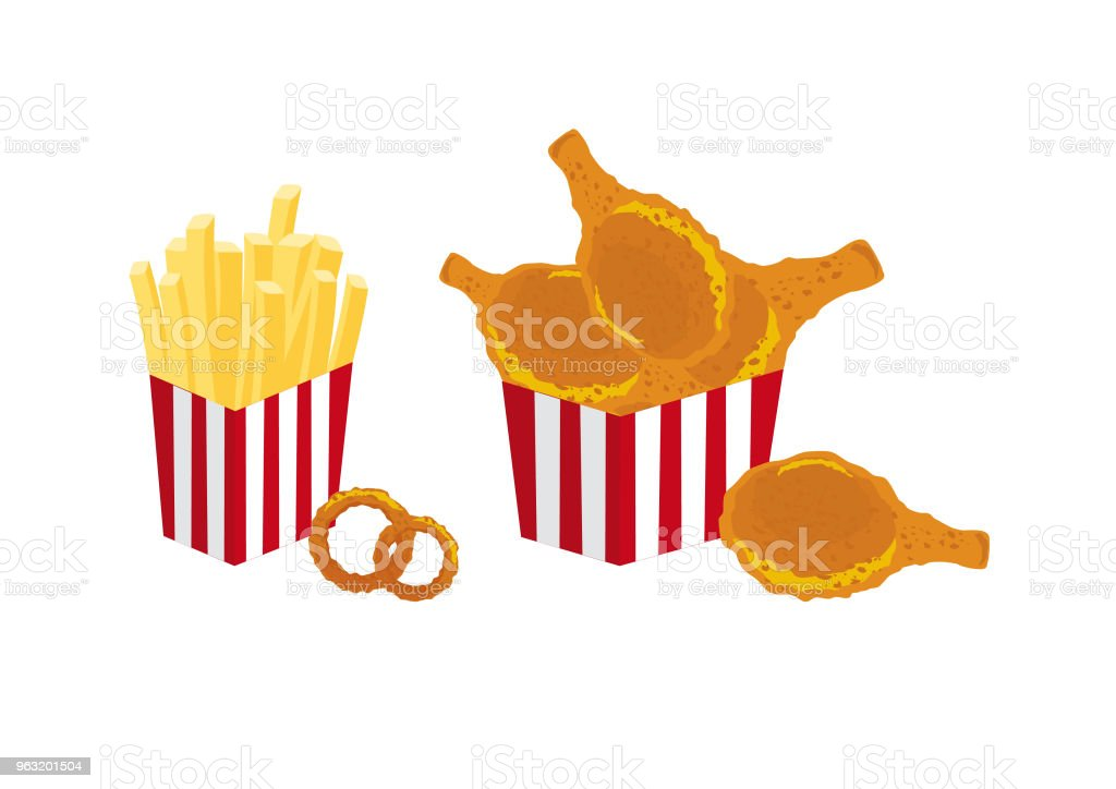Fried Food Vector Stock Vector Art More Images Of Art 963201504