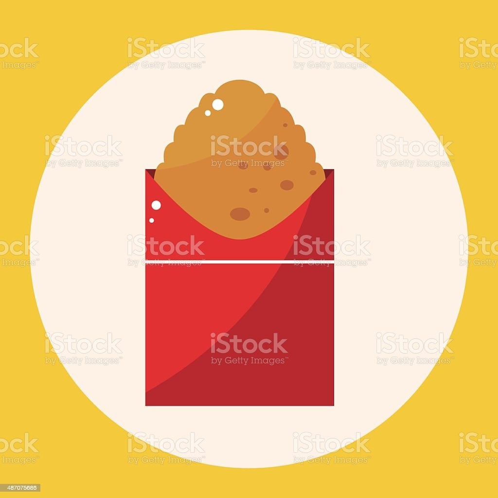 Fried foods theme hashbrown elements vector art illustration