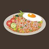 istock fried rice vector drawing illustration cusine food asian 587511228
