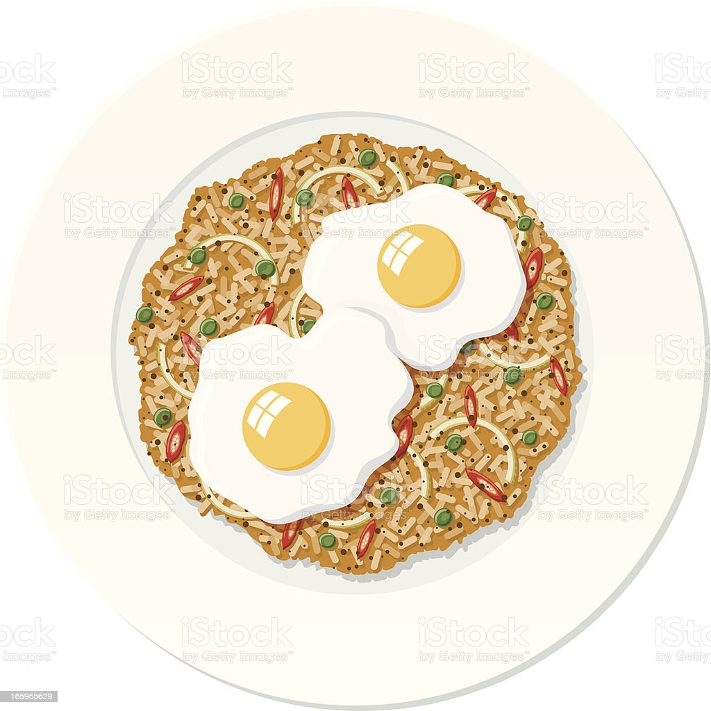 Nasi Goreng royalty-free stock vector art